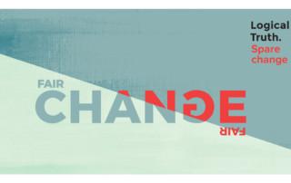 Postcard Sparechange 4 tile - Logical Truth - Fair Change